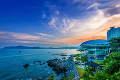 Dongbaek island with Nurimaru APEC Royalty Free Stock Photo