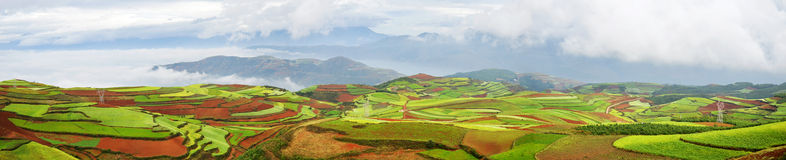 Dongchuan District, Yunnan Red Land Royalty Free Stock Images