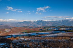 Dongchuan, fossa sunsetting della terra rossa del Yunnan a terrazze Immagine Stock
