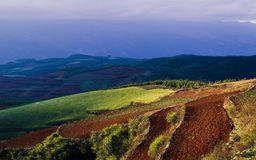 Dongchuan, het rode land van Yunnan Royalty-vrije Stock Foto