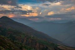 Dongchuan rött land av Yunnan arkivfoton