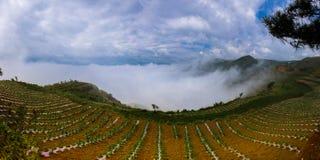 Dongchuan rött land av Yunnan royaltyfria foton