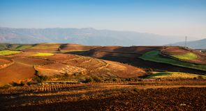 Red earth landscape of dongchuan, yunnan, China stock image