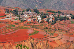 Dongchuan Red Land Stock Photo