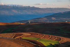 Dongchuan, Yunnan Province after snow Colorful slope Red Land Royalty Free Stock Images
