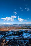 Dongchuan, Yunnan Province after snow Fairview Park Red Land Royalty Free Stock Image