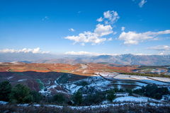 Dongchuan, Yunnan Province after snow Fairview Park Red Land Stock Photo