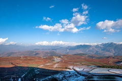 Dongchuan, Yunnan Province after snow Fairview Park Red Land Stock Photography