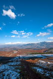 Dongchuan, Yunnan Province after snow Fairview Park Red Land Stock Images