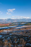 Dongchuan, Yunnan Province after snow Fairview Park Red Land Royalty Free Stock Images