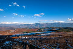 Dongchuan, Yunnan Province after snow Fairview Park Red Land Royalty Free Stock Photo