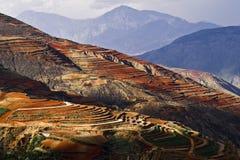 Dongchuan Yunnan rött land Arkivbilder