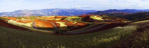 Dongchuan Yunnan rött land Fotografering för Bildbyråer
