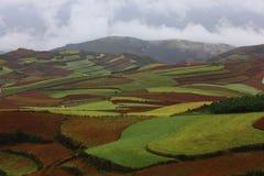 Dongchuan, Yunnan Red Land Stock Photo