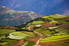 Dongchuan, Yunnan Red Land scenery Royalty Free Stock Images