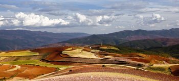 Dongchuan, Yunnan red land Royalty Free Stock Photos
