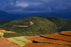 Dongchuan, Yunnan red land Royalty Free Stock Photo