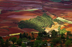 Dongchuan, Yunnan red land Royalty Free Stock Photos