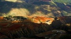 Dongchuan, Yunnan red land Royalty Free Stock Photo