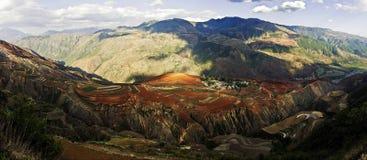 Dongchuan, Yunnan red land Stock Photos