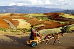 Dongchuan, Yunnan red land Stock Images