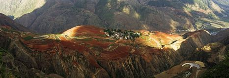 Dongchuan, Yunnan red land Royalty Free Stock Photography