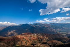 Dongchuan, Yunnan Red Land sunsetting ditch terraced Stock Image