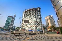 Dongdaemun都市风景2017年6月18日的 它是商务和 免版税图库摄影