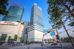 Dongdaemun都市风景2017年6月18日的 它是商务和 免版税库存图片