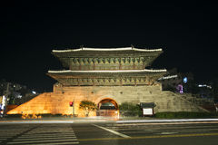Dongdaemun gate landmark in seoul south korea Stock Photography