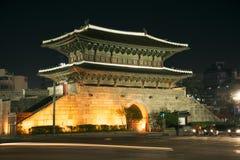 Dongdaemun-Tormarkstein in Seoul Südkorea Lizenzfreies Stockbild
