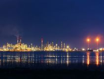 DONGES, FRANCE, APRIL 12, 2018, Oil refinery on the Loire bank a Stock Photos