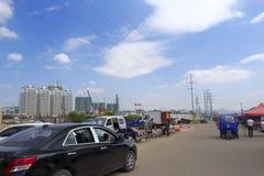 Dongfangxincheng (东部的地铁)住宅区 库存图片