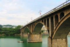 Dongfeng bro i yongzhou, hunan, Kina arkivbild
