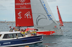 Dongfeng Racing Yacht In Round the world Sailing Boat Race Royalty Free Stock Photography
