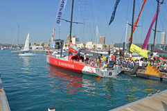 Dongfeng Race team Volvo Ocean Race 2014 - 2015 Stock Photos