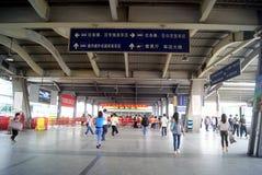 Dongguan bussstation, i porslin Royaltyfri Fotografi