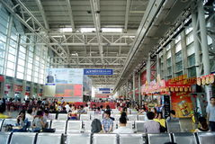Dongguan china: at the bus station for tourists Royalty Free Stock Image