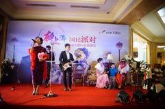 Dongguan Kina: etappskådespelare Arkivfoton