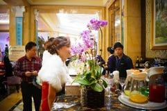 Dongguan Kina: Stång Arkivbilder
