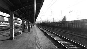 Donghae station i Korea Arkivfoton