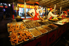 Donghuamen night market in Beijing Royalty Free Stock Images