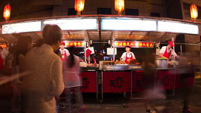 Donghuamen snack street at night HD. stock footage