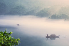 Dongjiang Lake Reservoir summer morning royalty free stock photography