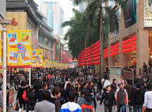 Dongmen Pedestrian Street in Shenzhen, China Stock Images