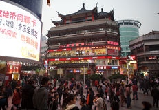 Dongmen Pedestrian Street in Shenzhen, China stock images