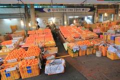 Dongmun Tradycyjny rynek w Jeju Fotografia Stock