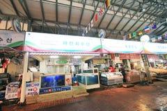 Dongmun Tradycyjny rynek w Jeju Obrazy Royalty Free