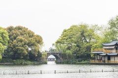 Dongpu bridge in Su causeway Royalty Free Stock Photos