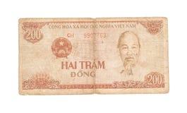 200 Dongrekeningen van Vietnam Royalty-vrije Stock Afbeelding